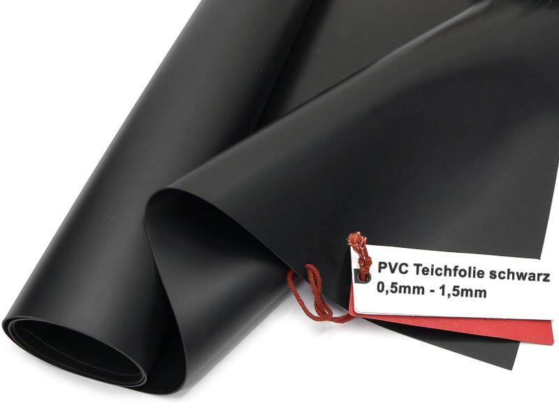 Teichfolie aus PVC schwarz