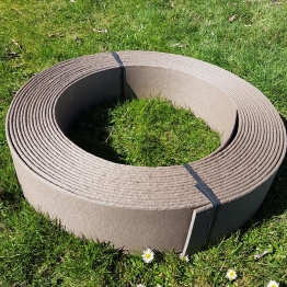 stabile Beeteinfassung Rasenkante Beetumrandung BRAUN  14cm x 25m
