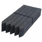 10 Pfähle Vollprofil aus Kunststoff für Teichrandsystem (72 cm)