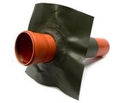 KG-Rohr Foliendurchführung DN 100 olivgrün incl. Rohrstück