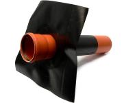 KG-Rohr Foliendurchführung DN 100 schwarz incl. Rohrstück